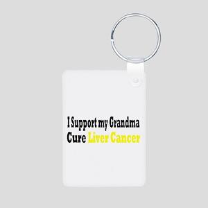 Liver Cancer Aluminum Photo Keychain