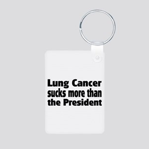 Lung Cancer Aluminum Photo Keychain