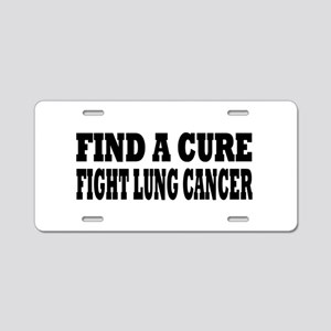 Lung Cancer Aluminum License Plate