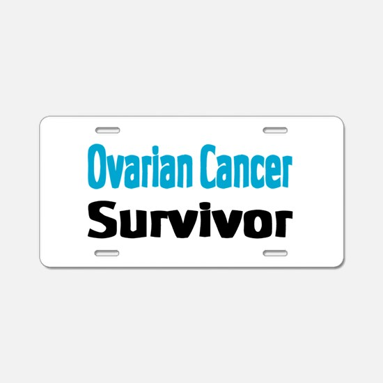 Ovarian Cancer Aluminum License Plate
