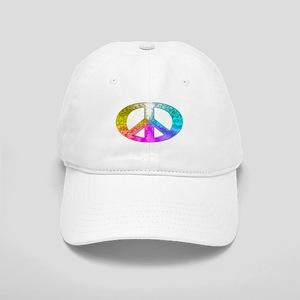 Peace Rainbow Splash Cap