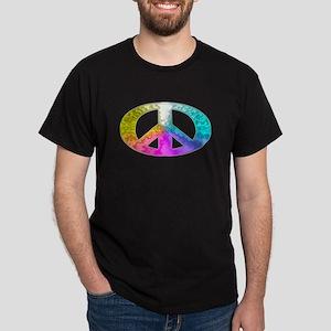 Peace Rainbow Splash Dark T-Shirt