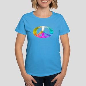 Peace Rainbow Splash Women's Dark T-Shirt