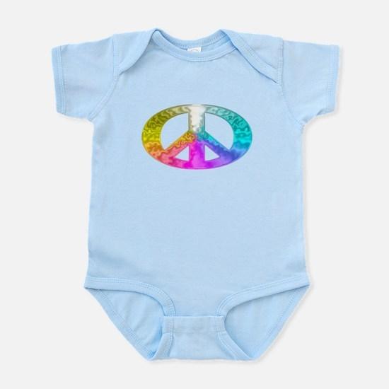 Peace Rainbow Splash Infant Bodysuit