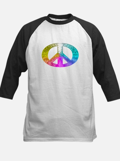 Peace Rainbow Splash Kids Baseball Jersey