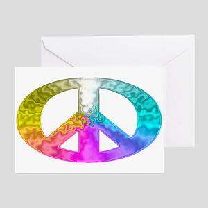 Peace Rainbow Splash Greeting Card