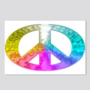 Peace Rainbow Splash Postcards (Package of 8)