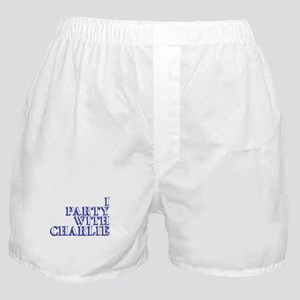 I Party With Charlie Boxer Shorts