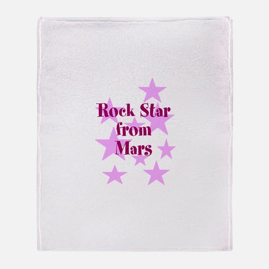 Rock Star from Mars Throw Blanket