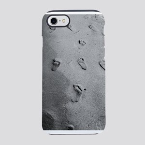 Footprints in the sand. iPhone 7 Tough Case