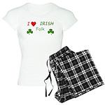 Love Irish Folk Women's Light Pajamas