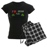 Love Irish Folk Women's Dark Pajamas