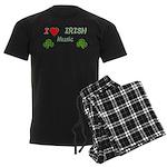 Love Irish Music Men's Dark Pajamas