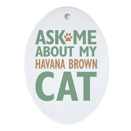 Havana Brown Ornament (Oval)