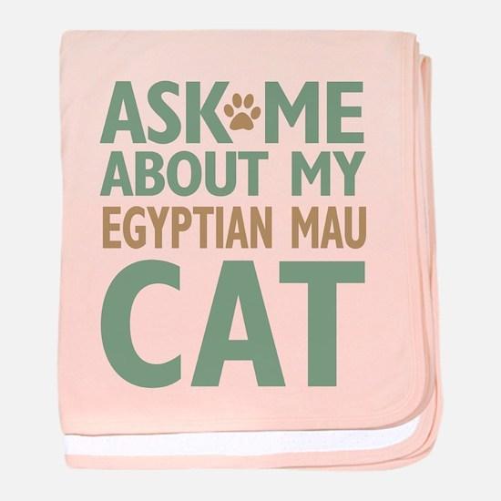 Egyptian Mau Cat baby blanket