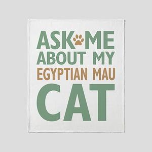 Egyptian Mau Cat Throw Blanket
