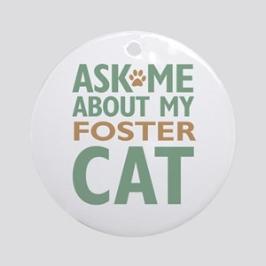 Foster Cat Ornament (Round)