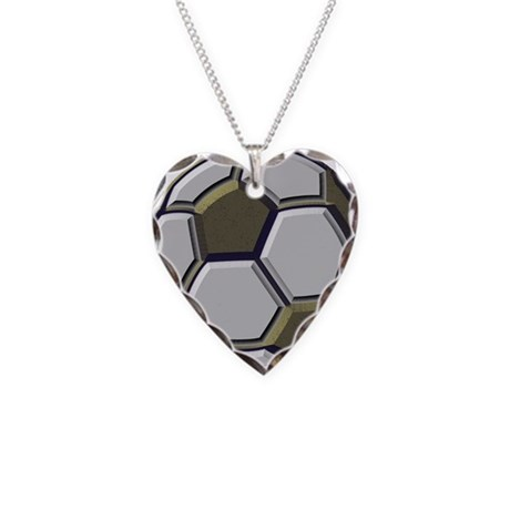 Soccer Impressions Necklace Heart Charm