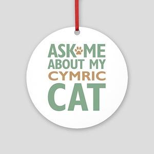 Cymric Cat Ornament (Round)