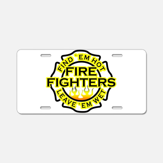 Firefighters, Hot! Aluminum License Plate