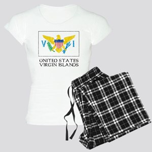 US Virgin Islands Flag Women's Light Pajamas