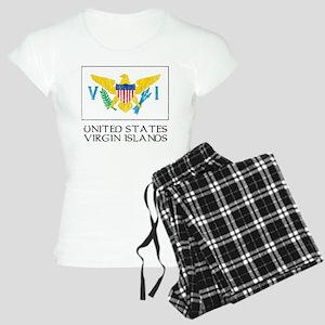US Virgin Islands Flag Women's Light Pajamas