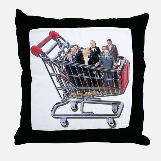 Shopping for Support Team Throw Pillow