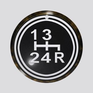 Four Speed Classic Ornament (Round)