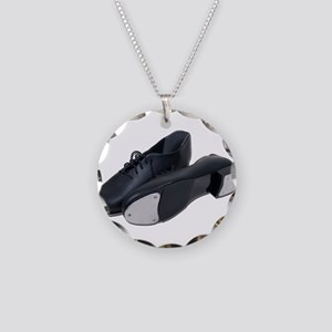 Tap Shoes Necklace Circle Charm