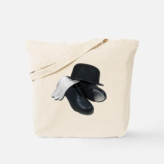 Tap Shoes Bowler Hat Gloves Tote Bag