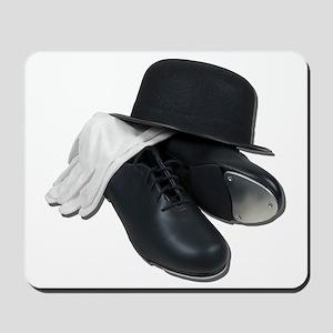 Tap Shoes Bowler Hat Gloves Mousepad