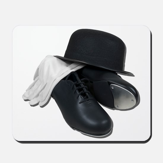 Tap Shoes Bowler Hat Gloves Mousepad