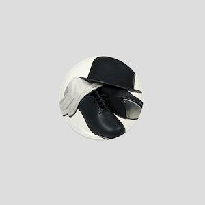Tap Shoes Bowler Hat Gloves Mini Button