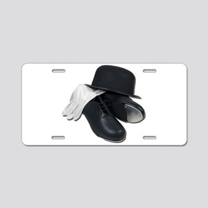 Tap Shoes Bowler Hat Gloves Aluminum License Plate