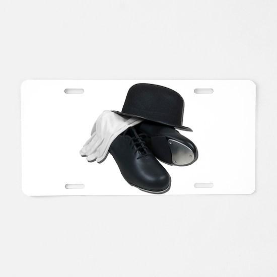 Tap Shoes Bowler Hat Gloves Aluminum License Plate