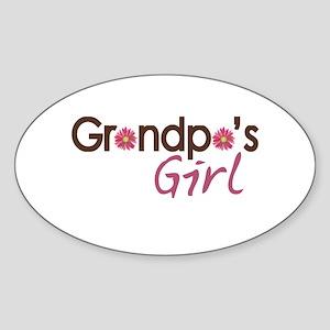 Grandpa's Girl Sticker (Oval)