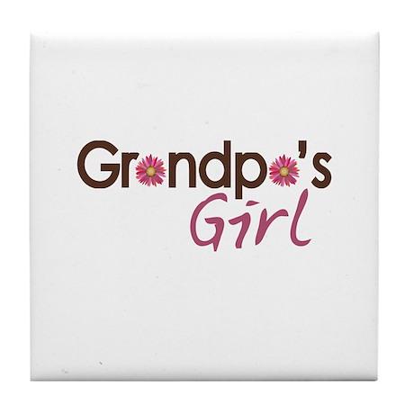 Grandpa's Girl Tile Coaster