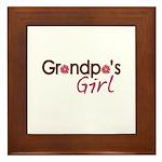 Grandpa's Girl Framed Tile
