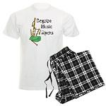 Bagpipe Music Rocks Men's Light Pajamas