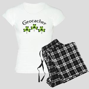 Geocacher 3 Shamrocks Women's Light Pajamas