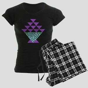 Flower Pot Quilt Women's Dark Pajamas