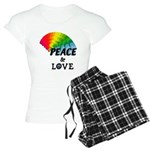 Rainbow Peace Love Women's Light Pajamas