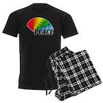 Rainbow Peace Men's Dark Pajamas
