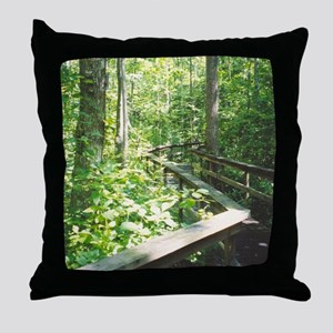 Boardwalk Trail Throw Pillow