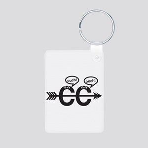 Cross Country - Ouch! Aluminum Keychain