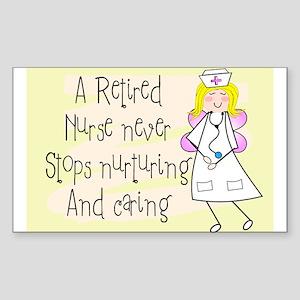 Retired Nurse Sticker (Rectangle 10 pk)