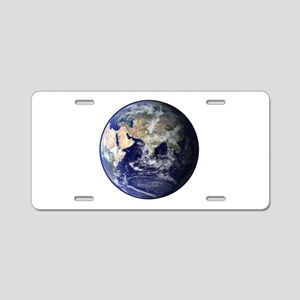 Eastern Earth from Space Aluminum License Plate