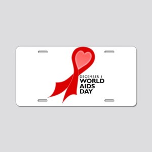 World AIDS Day Red Ribbon Aluminum License Plate