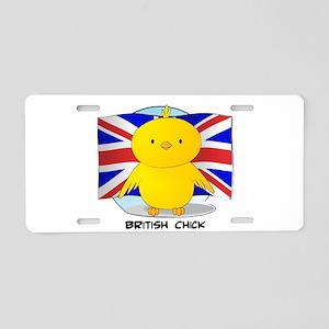 British Chick Aluminum License Plate