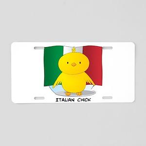 Italian Chick Aluminum License Plate
